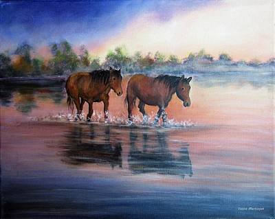 Painting - Walk by Vesna Martinjak