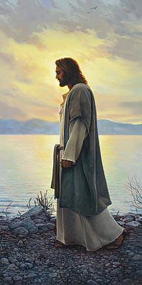 Standing Painting - Walk With Me  by Greg Olsen
