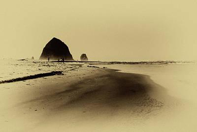 Walking The Beach Art Print by David Patterson