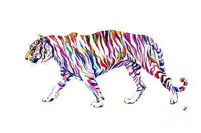 Painting - Walking Tiger by Zaira Dzhaubaeva