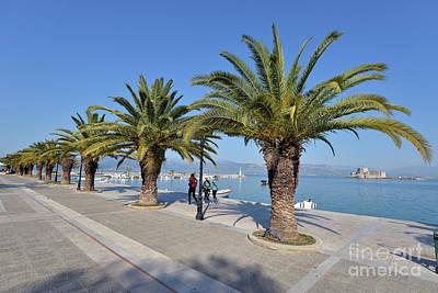 Photograph - Walkway In Nafplio Town by George Atsametakis