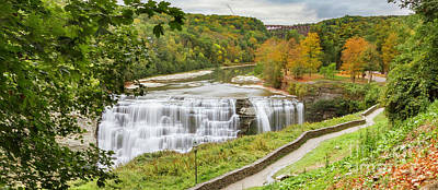 Photograph - Walkway To Letchworth Middle Falls by Karen Jorstad