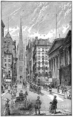 Photograph - Wall Street, 1889 - To License For Professional Use Visit Granger.com by Granger