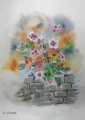 Painting - Wallflowers by Carol Crisafi