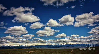 Photograph - Clouds Above The Wallowa Mountain Range In Eastern Oregon by Bruce Block