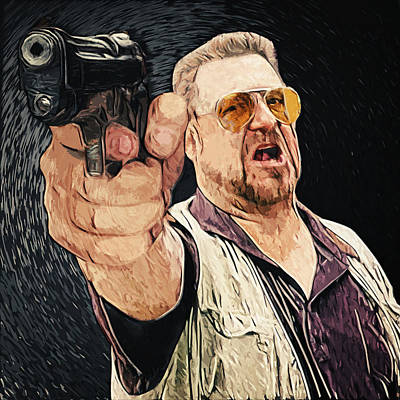 Music Digital Art - Walter Sobchak by Taylan Apukovska
