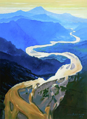 Painting - Wandering River by John Lautermilch