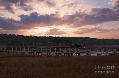 Photograph - Wando River Winter Sunset by Dale Powell