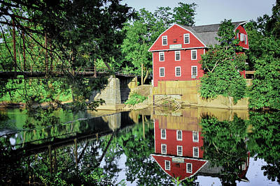 Eureka Springs Photograph - War Eagle Mill And Bridge - Arkansas by Gregory Ballos