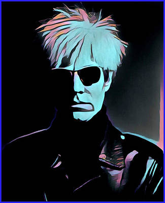Painting - Warhol Portrait by Gary Grayson
