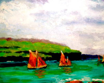 Warm Afternoon Sailing Art Print