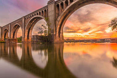 Virginia River Photograph - Warm Sunset At The A Line  by Chris Marcussen