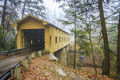 Music Royalty-Free and Rights-Managed Images - Warner Hollow Rd Covered Bridge by Jack R Perry