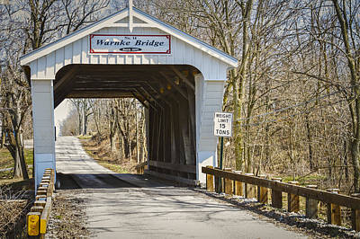 Music Royalty-Free and Rights-Managed Images - Warnke  Covered Bridge  by Jack R Perry