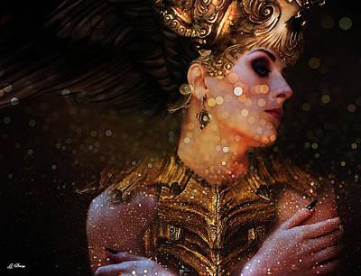 Mystical Women Mixed Media - Warrior Princess by G Berry
