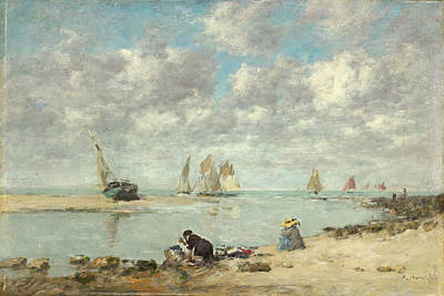 Painting - Washerwoman Near Trouville by Eugene Boudin