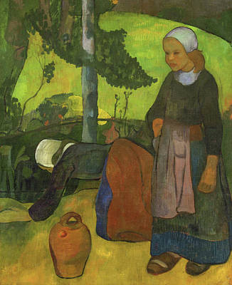 Vase Painting - Washerwomen by Paul Serusier