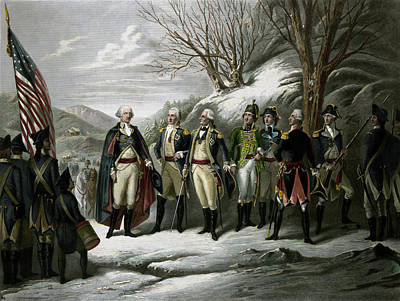 Revolutionary War Painting - Washington And His Generals by War Is Hell Store