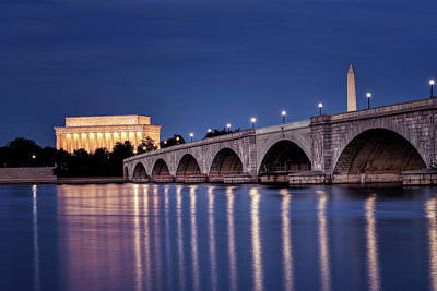 Photograph - Washington Dc At Night by Bill Dodsworth
