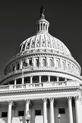 Photograph - Washington Dc Capitol Hill Dome by Brandon Bourdages