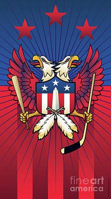 Washington Monument Digital Art - Washington Dc Double Eagle Sports Fan Crest by Joe Barsin