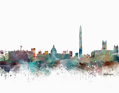 Painting - Washington Dc Skyline by Bri B