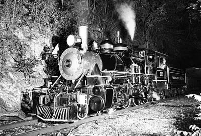 Photograph -  Washington Lincolnton Railroad 203 B W by Joseph C Hinson Photography