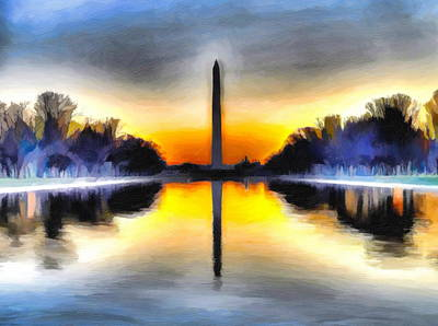Painting - Washington Monument by Christopher Wieck
