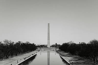 Photograph - Washington Monument In Washington Dc by Brandon Bourdages