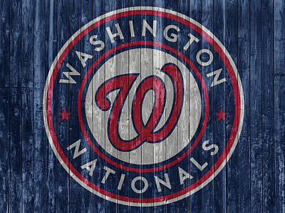 Washington D.c Mixed Media - Washington Nationals Barn Door by Dan Sproul