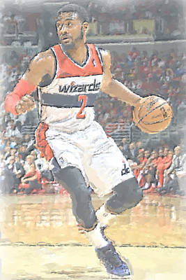Washington Wizards John Wall Print by Joe Hamilton