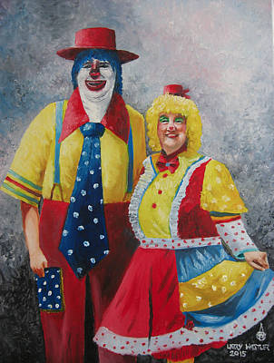 Painting - Wassy And Pat by Larry Whitler