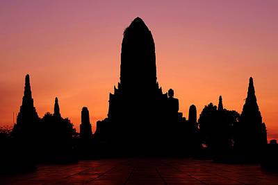Photograph - Silhouette Of Wat Chaiwatthanaram by Fabrizio Troiani