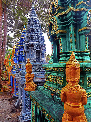 Photograph - Wat Krom Temple 29 by Ron Kandt
