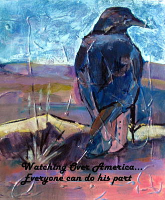 Painting - Watchful American Icon by Betty Pieper