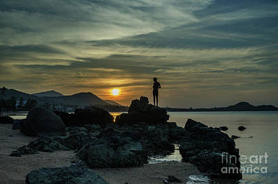 Photograph - Watching Sunset by Michelle Meenawong