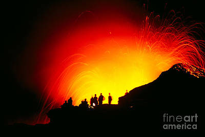 Photograph - Watching The Lava Flow by Erik Aeder - Printscapes