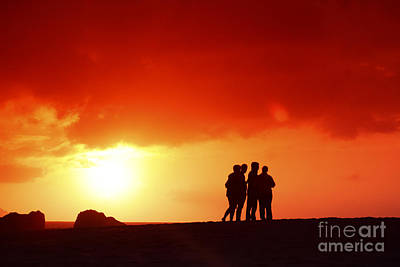 Watching The Sunset Art Print by Vince Cavataio - Printscapes