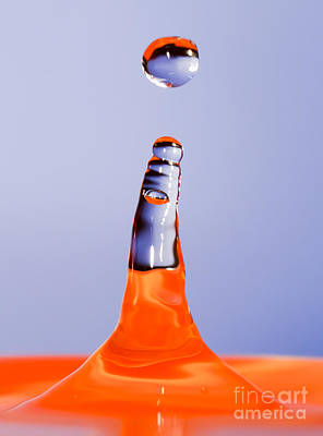 Photograph - Water Drop And Splash by Colin Rayner