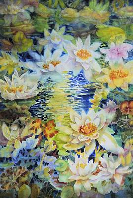 Water Garden Art Print by Ann  Nicholson