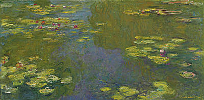 Lilies Painting - Water Lily Pond by Claude Monet