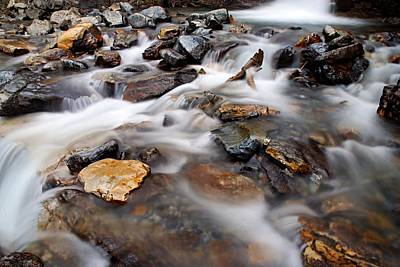Photograph - Water On The Rocks by Larry Ricker