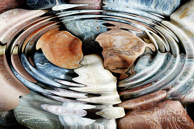 Photograph - Water Ripples Over The Stone Pebbles by Michal Boubin