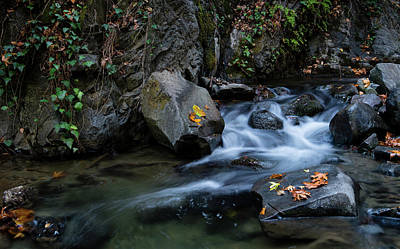 Angels And Cherubs - Water stream flowing in the river in autumn by Michalakis Ppalis