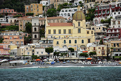 Photograph - Water Taxi From Amalfi To Positano by Harvey Barrison