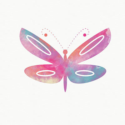 Watercolor Mixed Media - Watercolor Butterfly 2- Art By Linda Woods by Linda Woods