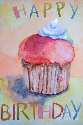 Burger Painting - Watercolor Illustration Of Cake  by Regina Jershova