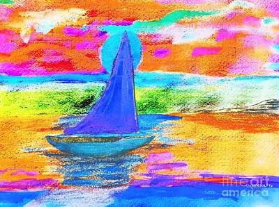 Watercolor Sailing Art Print
