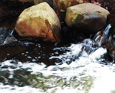 Photograph - Waterfall Abstract by Roger Bester