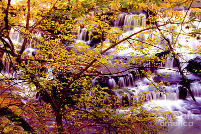 Photograph - Waterfalls And Fall Colors by Paul W Faust -  Impressions of Light